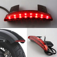 High Quality Motorcycle Red Shell Chopped Rear Fender Edge LED Stop Tail Brake Light Red Lamp