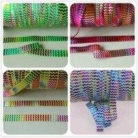 3 kolory tęczy folia chevron chevron drukowane FOE fold over elastic