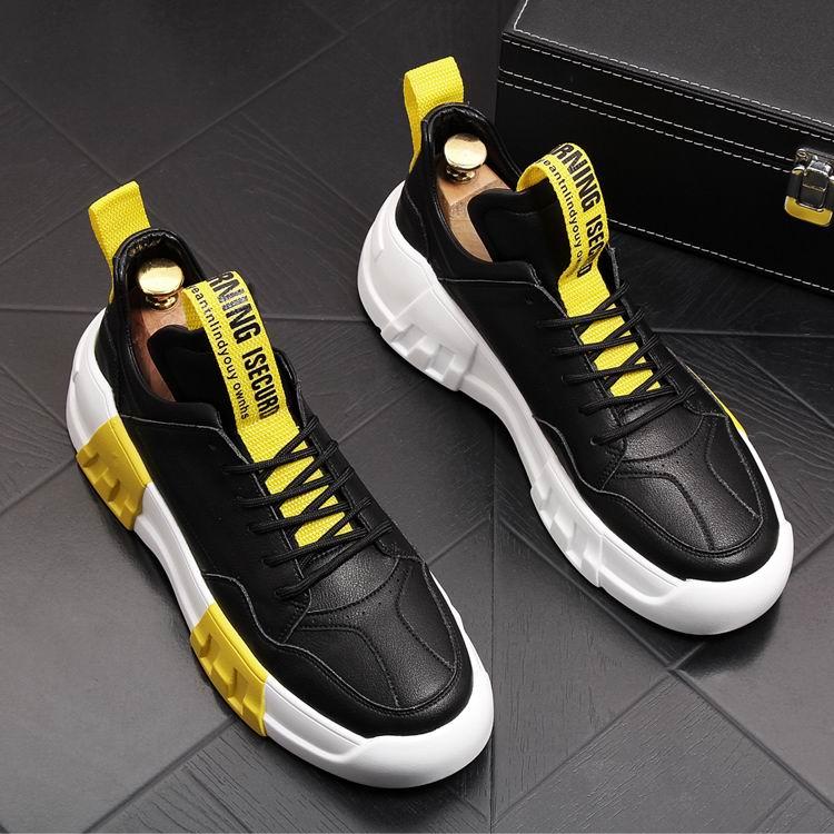 Ayakk.'ten Erkek Rahat Ayakkabılar'de ERRFC Yeni Varış Bahar Sonbahar Trend Erkekler rahat ayakkabılar Lace Up Yuvarlak Ayak Konfor günlük ayakkabı Erkek Yüksekliği Artan Platform'da  Grup 1