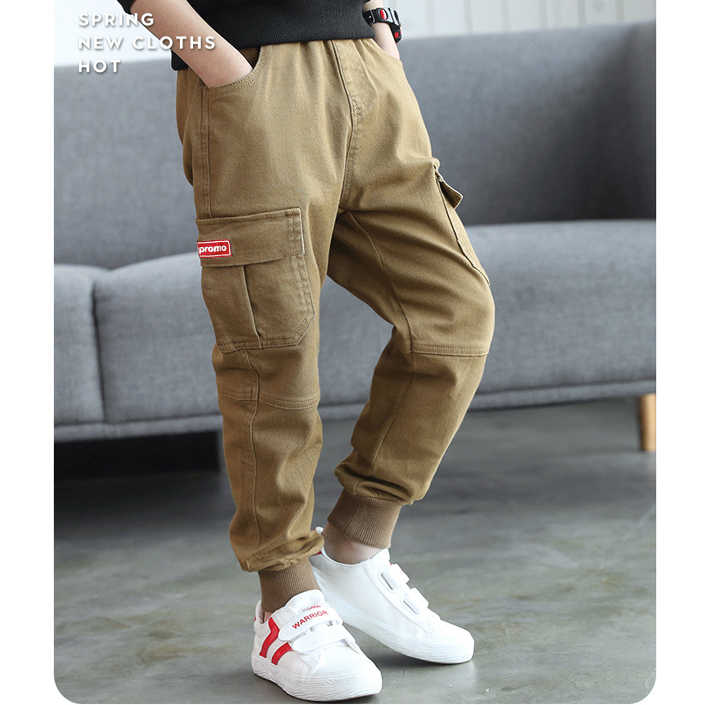 48251ca501 Boys Cotton Pants 2019 Toddler Kids Cargo Pants for Boys Trousers Children  Casual Pants 3-