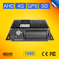 Online 4G mobile DVR, 4 channel dual SD AHD 1080 DVR 4G+GPS function, for live video watching on PC/ Iphone Monitoring Recorder