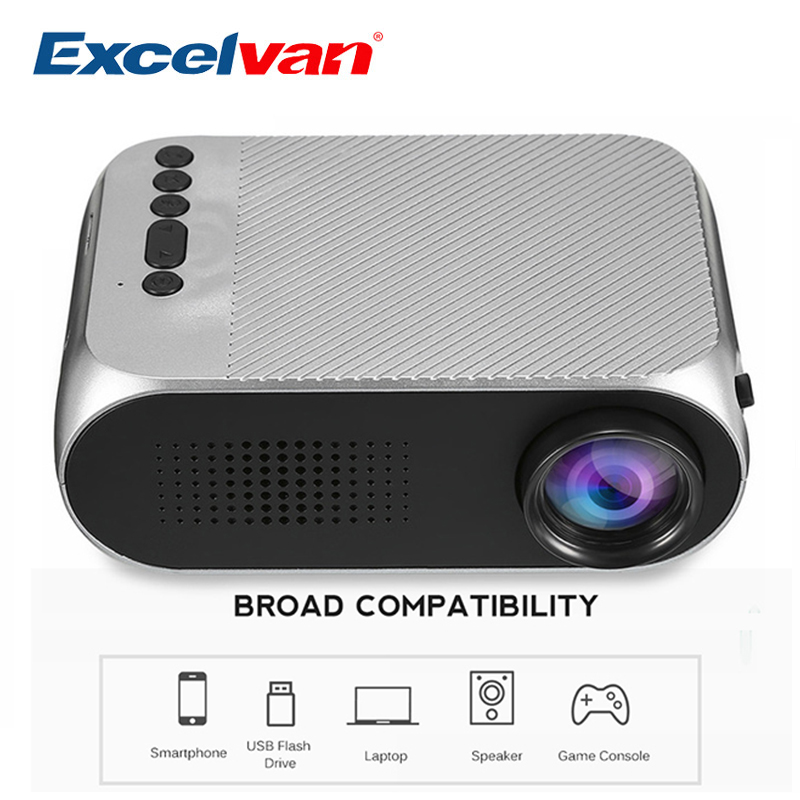 Aliexpress Com Buy Excelvan Cl720 Full Hd Home Theater: Aliexpress.com : Buy Excelvan YG320 Mini Projector Led