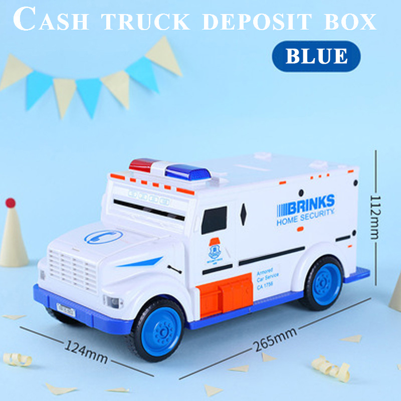 Cash Truck Deposit Box ABS Plastic Unisex Funny Toy Money Boxes Children Learning & Education Vehicle Bank Savings MachineCash Truck Deposit Box ABS Plastic Unisex Funny Toy Money Boxes Children Learning & Education Vehicle Bank Savings Machine