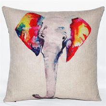 Colorful Elephant Pillow Covers – FREE Shipping