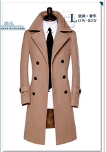 2019 new autumn Double breasted wool coat men fit slim mens pea coat woolen fashion casual male coats cashmere plus size S - 9XL