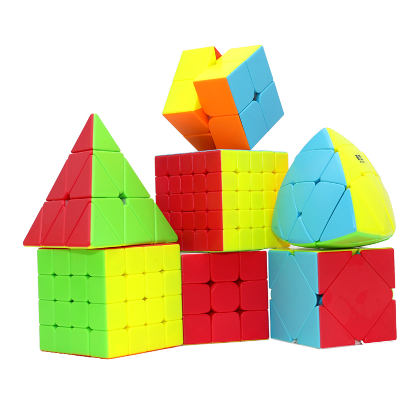 QIYI 2x2 3x3 4x4 5x5 Magic Puzzles Cube Warrior QIDI S Speed Cubes QIYUAN S QIZHENGS S Magico Cubo Toys Magic Cube Gifts for Kid yj yongjun moyu yuhu megaminx magic cube speed puzzle cubes kids toys educational toy
