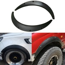 2Pcs Universal Car Fender Flares Extra Wide Body Wheel Arches for Off-road Hot Sale yi 238 universal plastic car fender flares wheel lips black silver grey 2 pcs