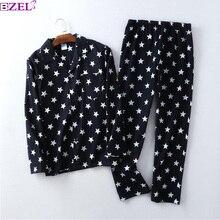 Stelle della moda di vendita pigiami per uomo 100% cotone spazzolato casual inverno pigiama set degli uomini degli indumenti da notte pigiama maschile pajamers per gli uomini