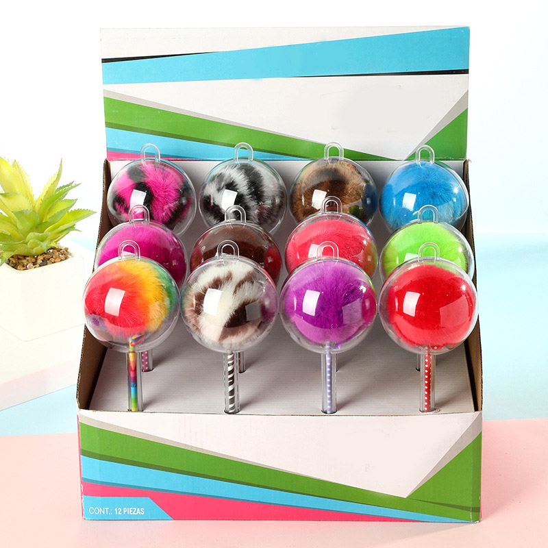 Creative Plush Pens Cute Ballpoint Pens Kawaii Ball Pens For Children Gifts School Office Supplies Korean Stationery