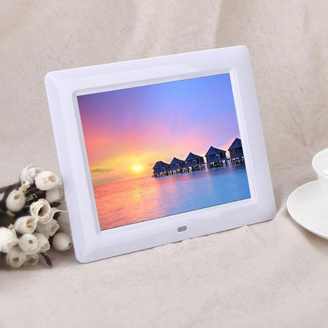 "Nueva 7 ""HD TFT-LCD Digital Photo Frame con Diapositivas Despertador MP3/4 Jugador de Calidad Superior LJJ1206"