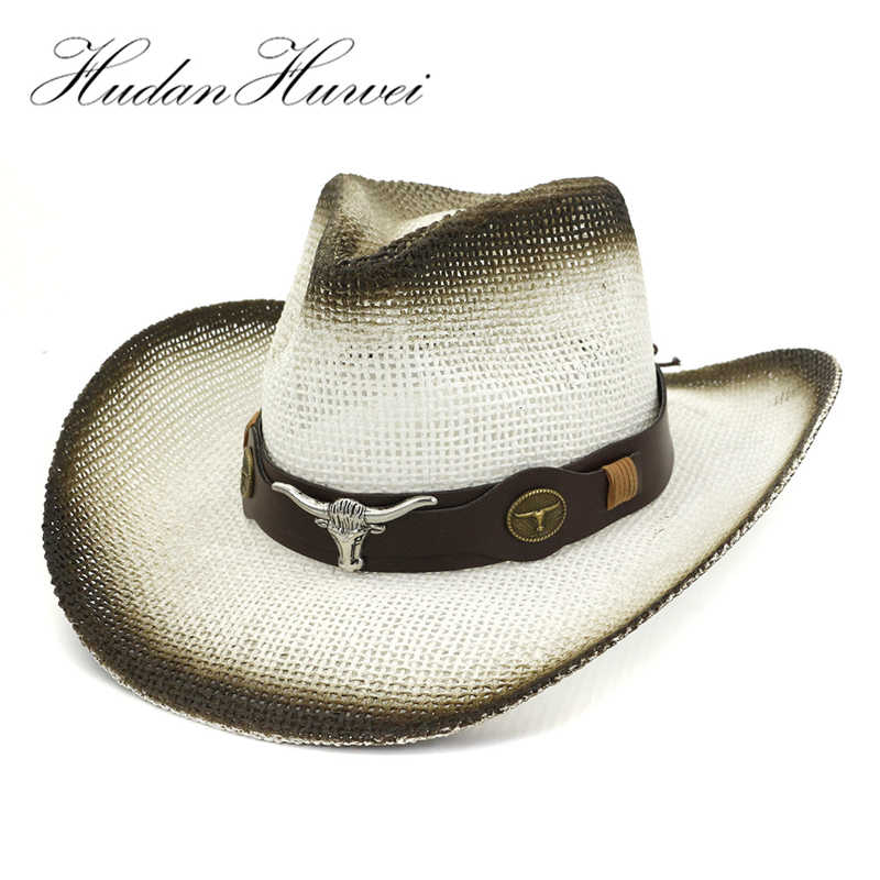 50c460f7e GEMVIE Cowgirl Summer Hat for Women Western Cowboy Hat For Men Beads ...