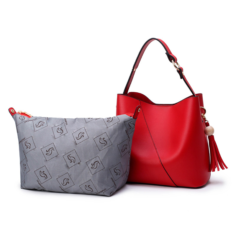 bolsas Modelo Número : 2017 Woman Tassel Bucket Bag