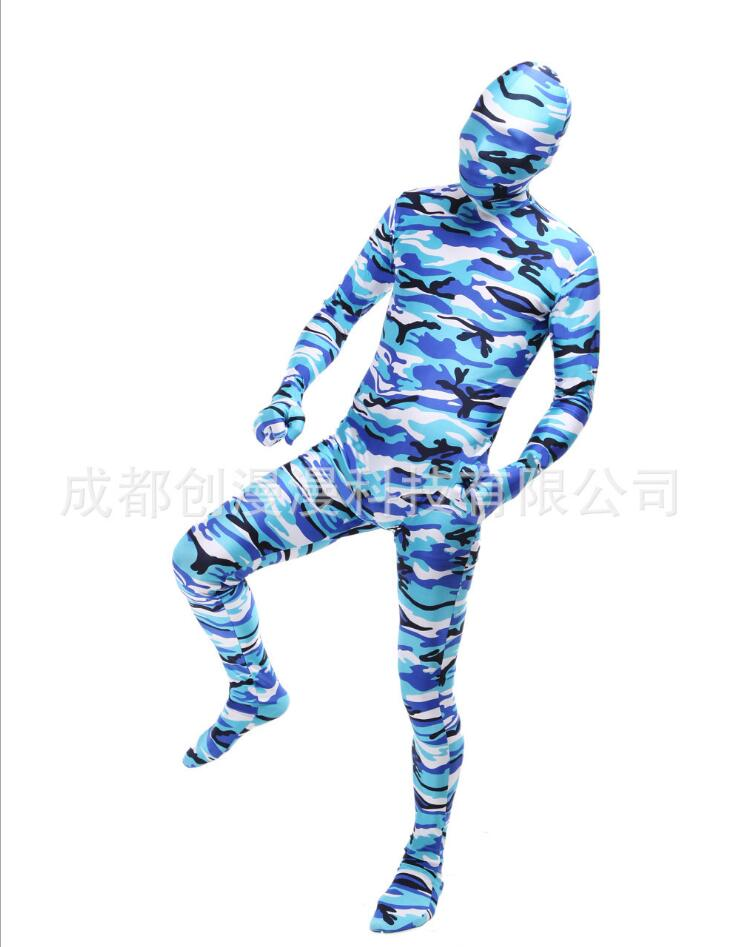 Halloween costumes camouflage Lycra tights cosplay costumes event stage performance clothing