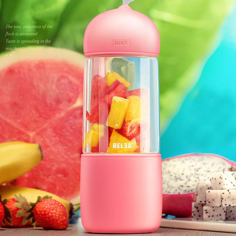 New Portable Comes With USB Charging Cable Electric Juice Cup Multi function Mini Juicer Household Juice Cup Free Shipping Sale