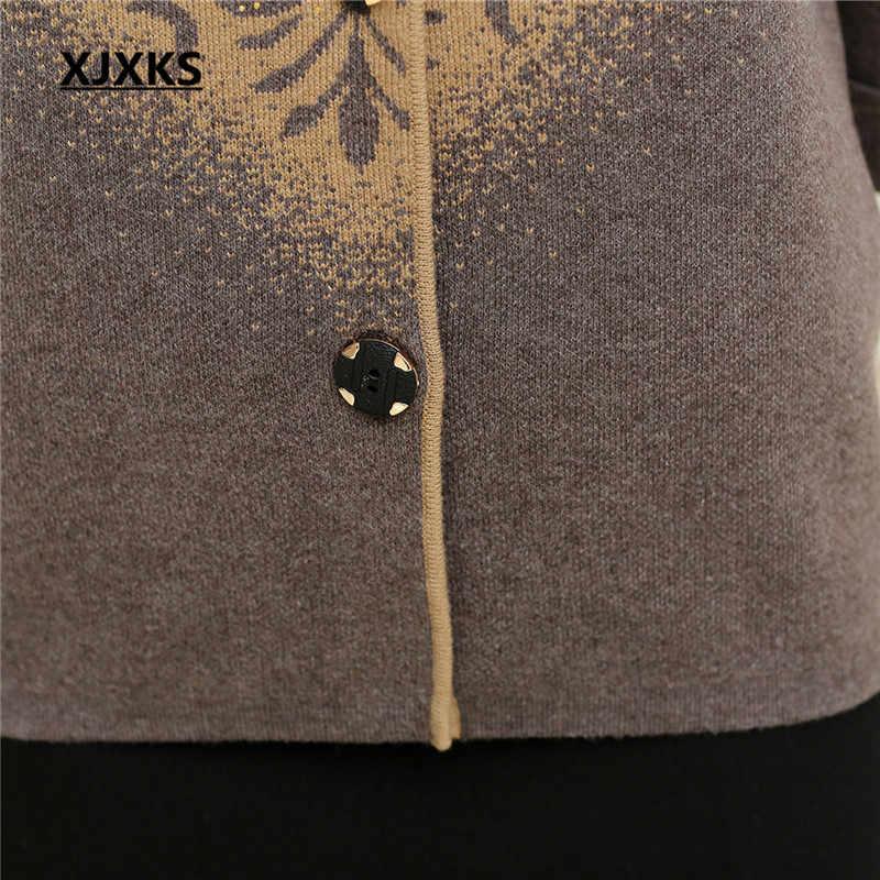 Xjxks Baru 2020 Musim Gugur dan Musim Dingin Wanita Penebalan Kasmir Sweater Pakaian Cardigan Plus Ukuran Jaket Musim Dingin Wanita