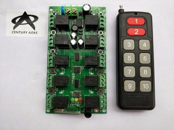 Dc12v 10a 10ch rfワイヤレスリモートコントロールシステム10チャンネル受信機+トランスミッタ個別学習コードガレージドア/シャッター