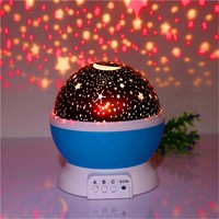 AIMIHUO Star LED novelty light Starry Projector Light 3 color use AAA battery&USB power supply moon Led night light for Children