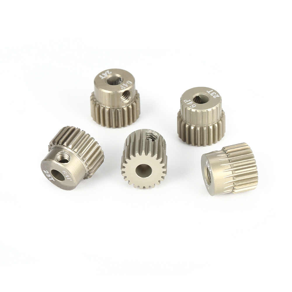 5 Pieces 22T 23T 24T 25T 26T Teeth Tooth 48P Steel Pinion Gear 3.17mm for RC Car
