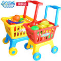 ABS Large children play house toys Simulation shopping cart trolley baby girl kitchen fruits and vegetables Set