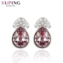 Xuping Studs Earrings Simple Heart Design Crystals from Swarovski Luxury Jewelry for Women Pretty Christmas Gifts S142.9--92933 недорого