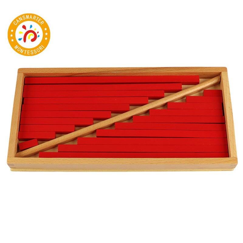 Montessori enfants jouet de haute qualité rouge tiges préscolaire éducatifs jouets d'apprentissage pour les enfants