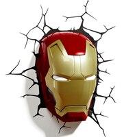 Avengers 3D illusion Led night light Marvel Captain America Shield lamp table novelty products christmas lights children