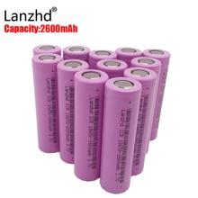 (2-40pcs)Battery 18650 rechargable Batteries 3.7v ICR18650 rechargeable Li-ion 2600MAH Capacity Battery for Led Flashlight