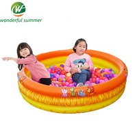 142*30cm Big SizeTrinuclear Inflatable Ocean Ball Pool Baby Swimming Pool Piscina Portable Outdoor Children Basin Bathtub Infant
