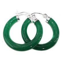Женские красивые круглые зеленые серьги из натурального камня