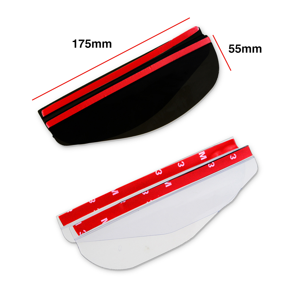 Image 5 - 2pcs/lot Universal Flexible PVC Car Accessories Rearview Mirror Rain Shade Rainproof Blades Car Back Mirror Eyebrow Rain Cover-in Awnings & Shelters from Automobiles & Motorcycles