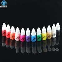 OPHIR Acryl Wasser Tinten Airbrush Nail Tinte für Nail art Polish 10 ml/Flasche Temporäre Tattoo 12 Farben Pigment für Choosing_TA098