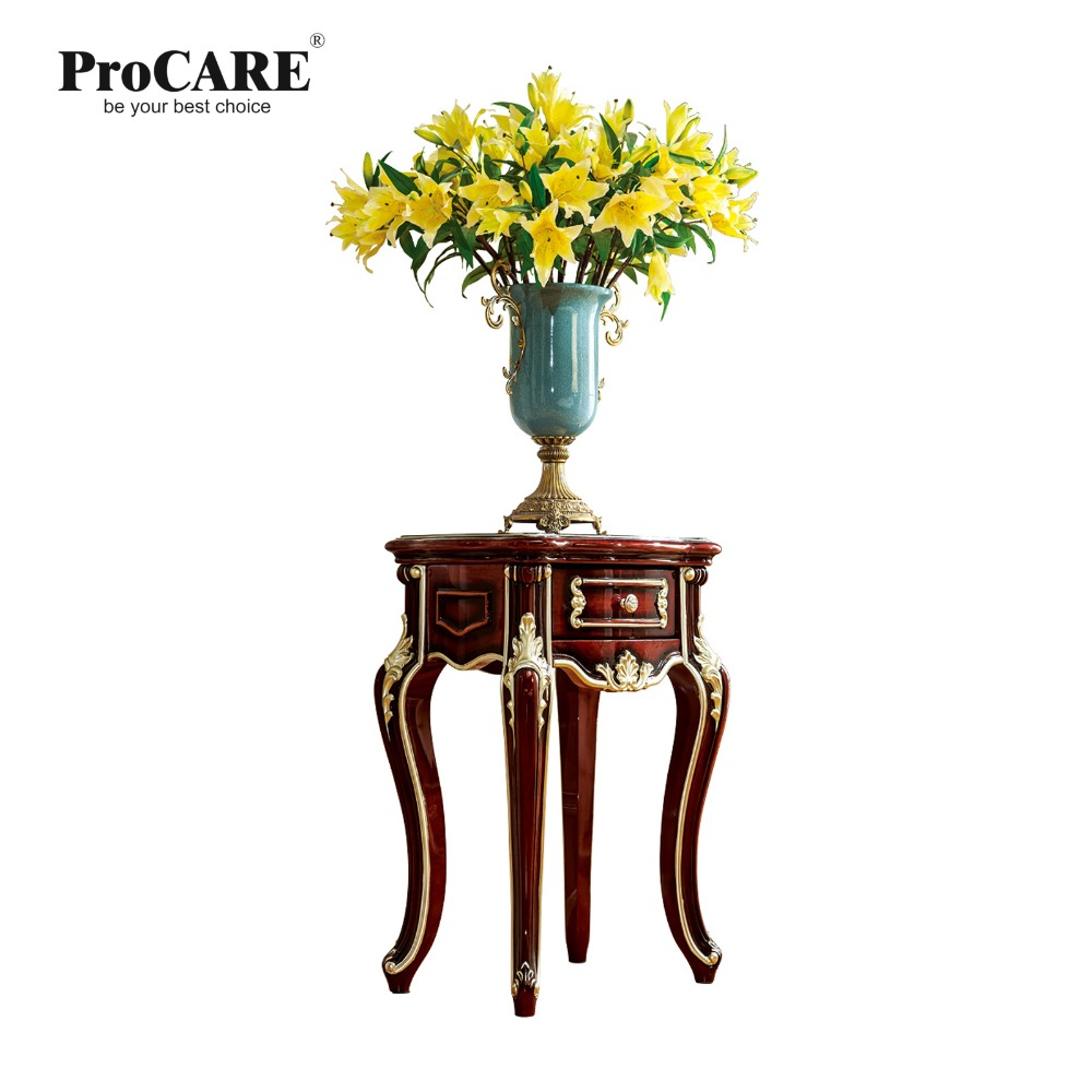 Antique solid wood sofa side table for telephone or flower for luxury European style furniture set from Brand ProCARE procare european style solid wood white dressing table set dresser
