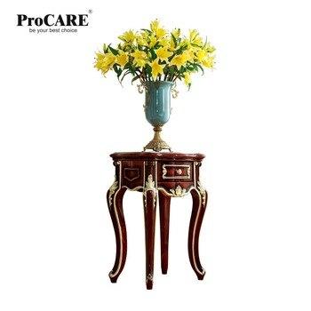 Table d'appoint Antique en bois massif pour téléphone ou fleur pour meubles de style européen de luxe de marque ProCARE