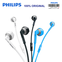 Philips SHE3205 Wired Earphone with Microphone Speaker Support Computer Ipad MP4 Smartphone for Galaxy S9 S9 Plus Official Test