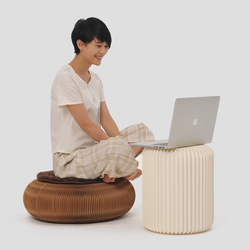 طاولة القهوة لغرفة المعيشة كرسي بلا ظهر قابل للطي الإبداعية الأوروبية بسيطة نمط حماية البيئة ورقة الأثاث