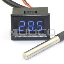 On sale Digital Thermometer -55~125 Celsius Blue Led Digital Meter DC12V 24V Digital Tester for Outdoor/Indoor/Laboratory/Greenhouse etc