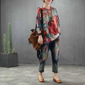 Image 5 - Max LuLu 2019 moda jesień koreański styl panie bluzki z dzianiny Tees damska luźna z nadrukiem z długim rękawem t shirty bawełniane ciepłe ubrania