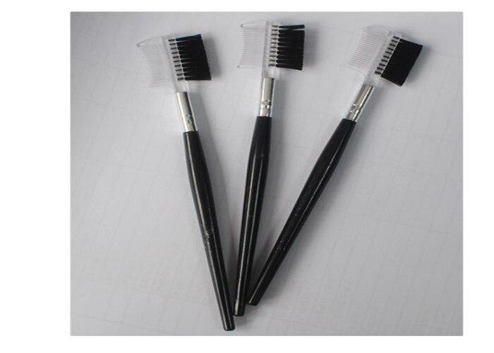 50 pcs de alta qualidade preto duplo pestana sobrancelha pente escova pente cosmeticos escova para