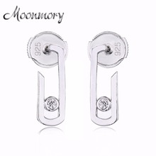 Moonmory France Fashion Jewelry 925 Sterling Silver Earring For Women Move Addiction Star Valentines gift
