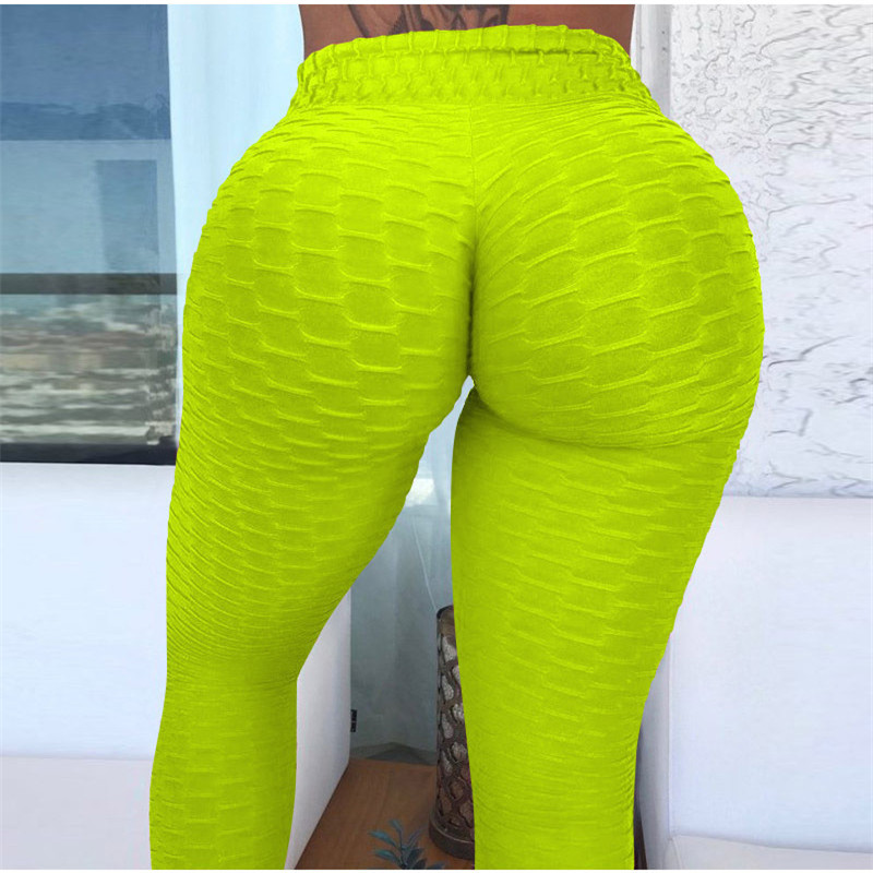 NORMOV Fitness Leggings Women Polyester Ankle Length Standard Fold Pants Elasticity Slim Push Up Female multiple