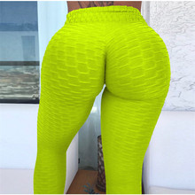 Fitness Leggings Women Polyester Ankle-Length Slim Push Up Female multiple color Legging