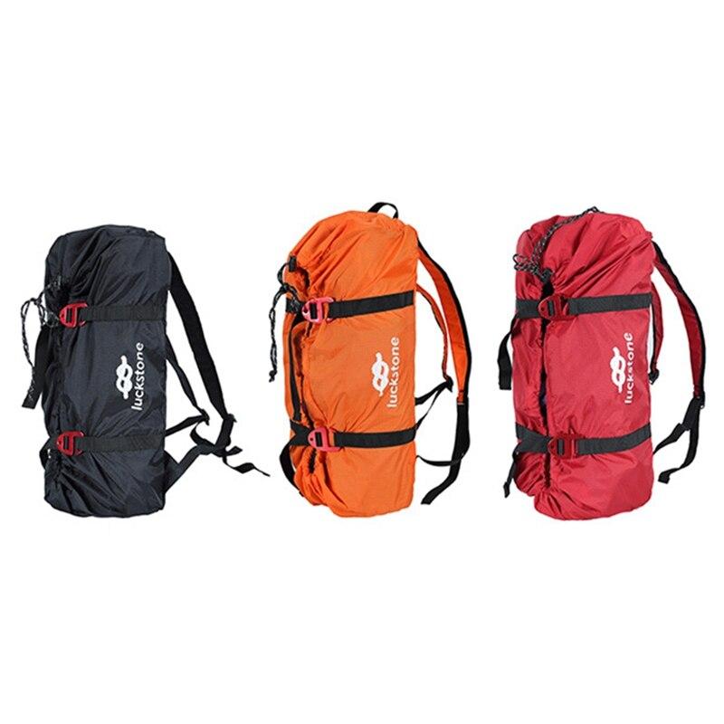Al aire libre escalada bolsa de cuerda de escalada bolsa de equipo para el alpinismo escalada equipo mochila bolsa de almacenamiento con correas de hombro