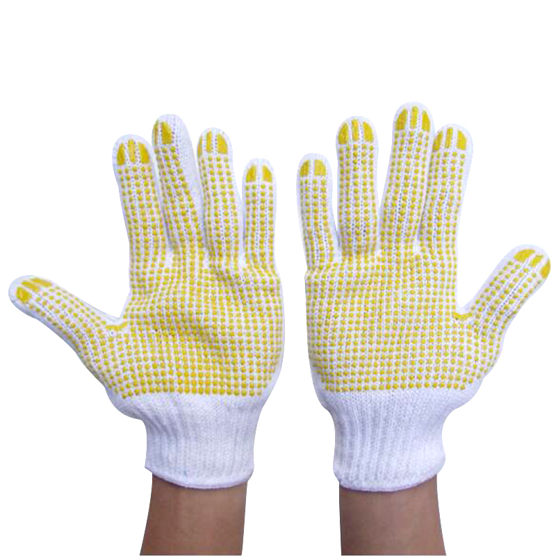 Tickening Cotton Work Gloves rubber dots slip-resistant hands gloves gloves hands protector working gloves G0416 cotton gloves boxing sanda muay thai bandage tied hands