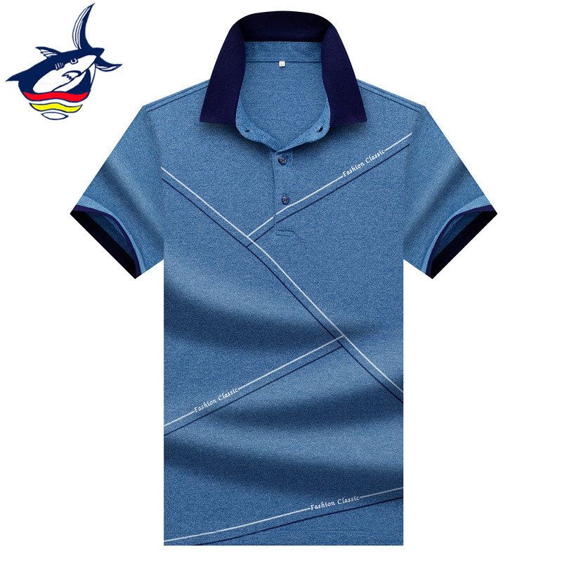 Tace & Shark Brand Men's short-sleeve   polo   shirt 2019 Fashionable Design High Quality Cotton Solid Color Business   polo   shirt