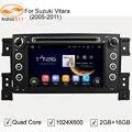 5.1.1 GreenYi 1024*600 Quad Core Android Автомобилей Мультимедиа DVD Головное устройство Стерео Радио Плеер для SUZUKI GRAND VITARA 2005-2011 4 Г