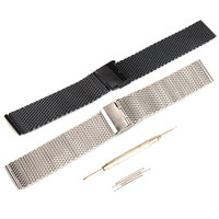 High Quality Watchbands22mm Stainless Steel Watch Band Bracelet For Pebble Time Smart Watch Tool 2016
