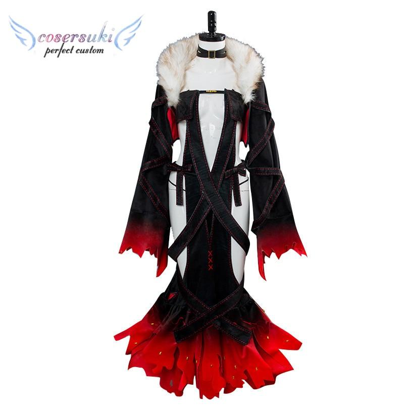Agressief Fate/grand Order Lady Yu/yu Mei Ren Vrouwen Meisjes Lange Jurk Cosplay Kostuum Halloween Carnaval Outfit Custom Made Verpakking Van Genomineerd Merk