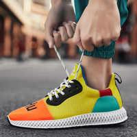 Hemmyi Herren Turnschuhe Beiläufige Schuhe Mesh Atmungsaktiv Männlichen Schuhe Frühjahr Mode Lace-Up Rubber Sohle Chaussure Homme Trainer