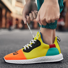 Hemmyi Mens Sneakers Casual Shoes Mesh Breathable Male Schuhe Spring Fashion Lace-Up Rubber Sole Chaussure Homme Trainers