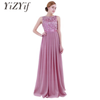 YiZYiF Women Ladies Embroidered Chiffon Dresses Long Dress Evening Prom Gown wedding prom evening party dress Women Clothes